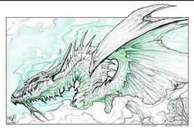 Green Smokey Dragon by drakhenliche