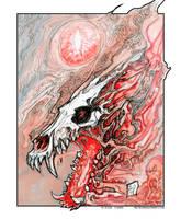 Smokey Skull by drakhenliche