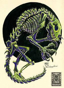 Inktober17 - Skeletal Werebeast