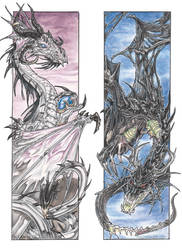 Dragons of Life and Death by drakhenliche