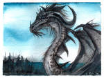 Another watercolour dragon