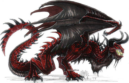 red dragon. markers