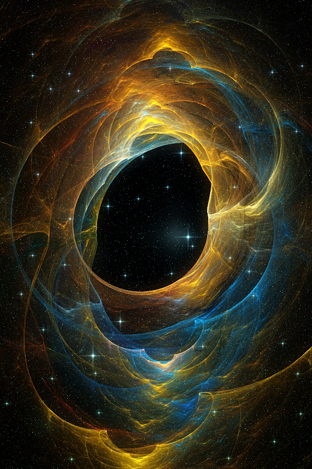 Blue And Gold Nebula IPhone Wallpaper By Elipsis01