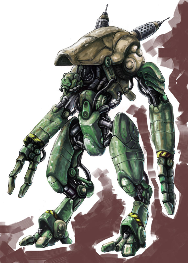 Greenish Robot by Silver-Fate