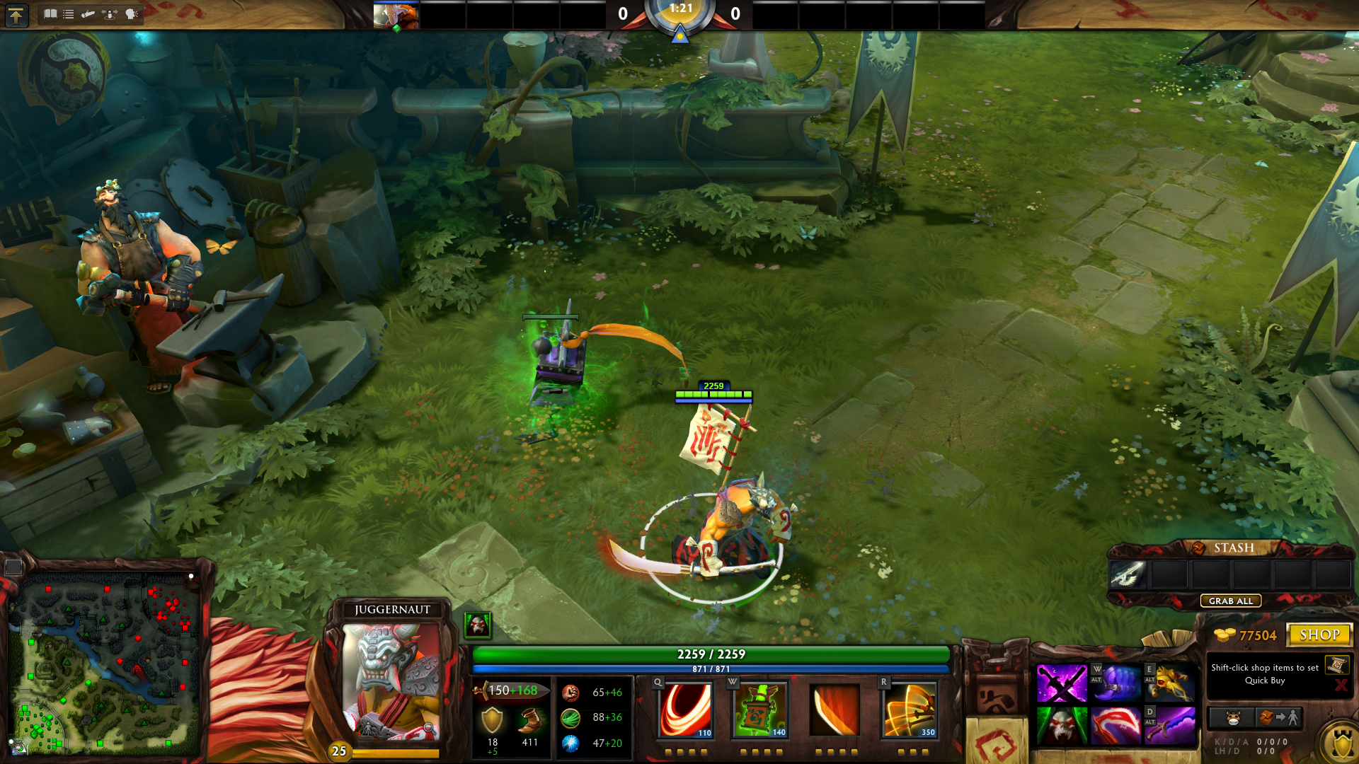 kendo house juggernaut hud updated dota 2 by silver fate on