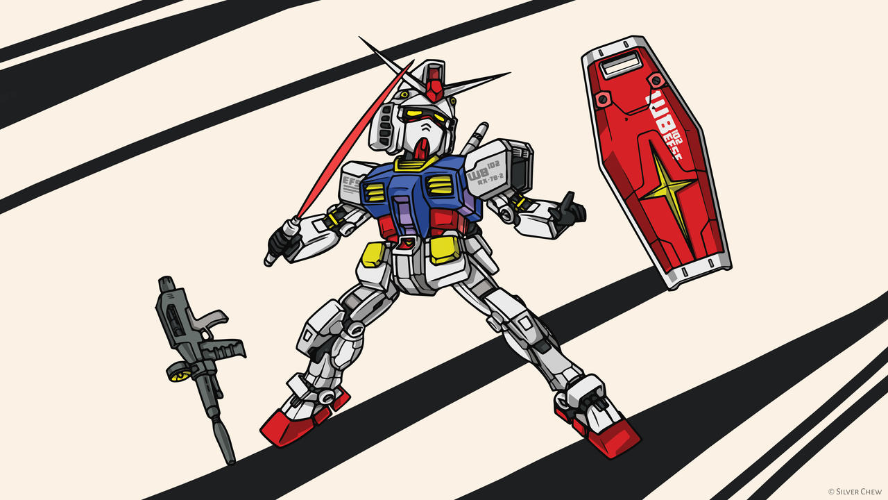 Rx 78 2 Chibi Wallpaper By Silver Fate On Deviantart