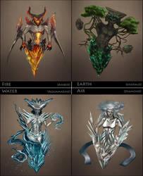 Crystal Elementals