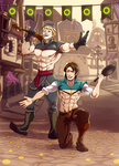 C : Kristoff and Flynn by goyong
