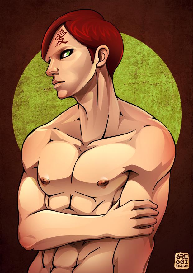 Shirtless Ninja : Gaara by greggileano