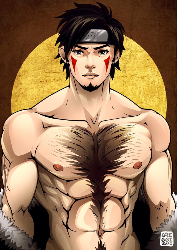 Shirtless Ninja : Kiba by greggileano
