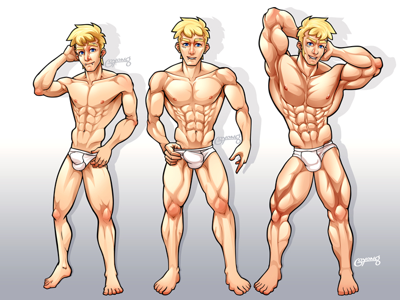 commission : muscle growth pt.1 by goyong on deviantart, Muscles