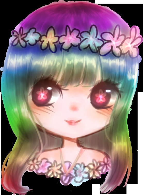Rainbow Flowers by Sindeyella101