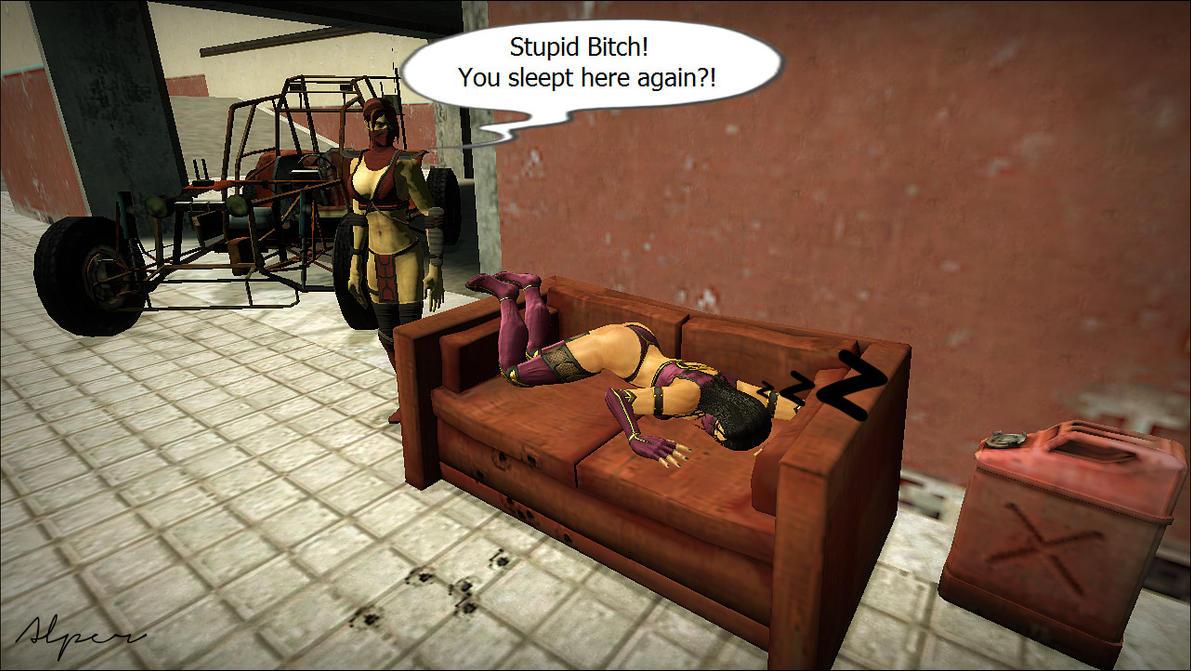 Skarlet and Mileena - My first Gmod work! by Alper-55