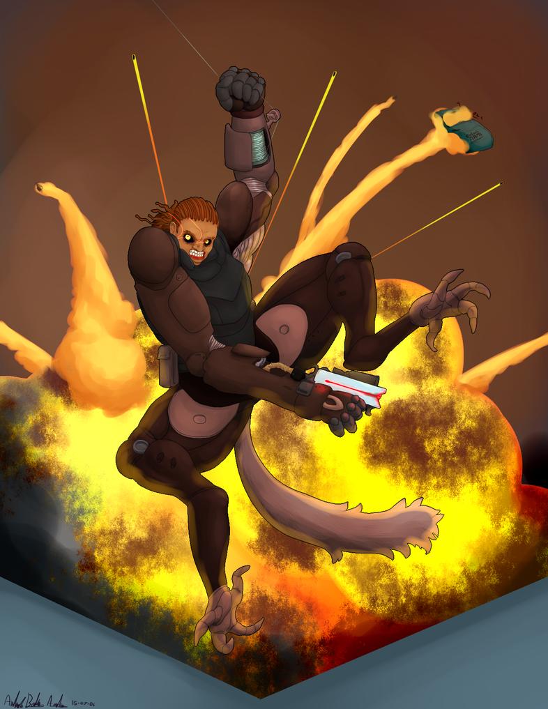 Commission - Chromewolf for Slovorg by Edge-sama
