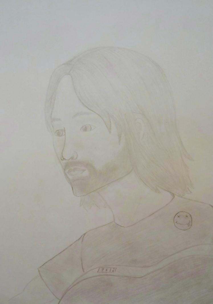 Kurt Cobain WIP by percyjason1