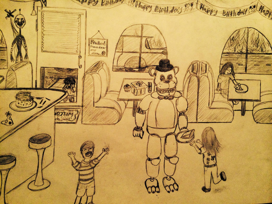 Fredbear 39 s family diner by fazbear art on deviantart for Family diner