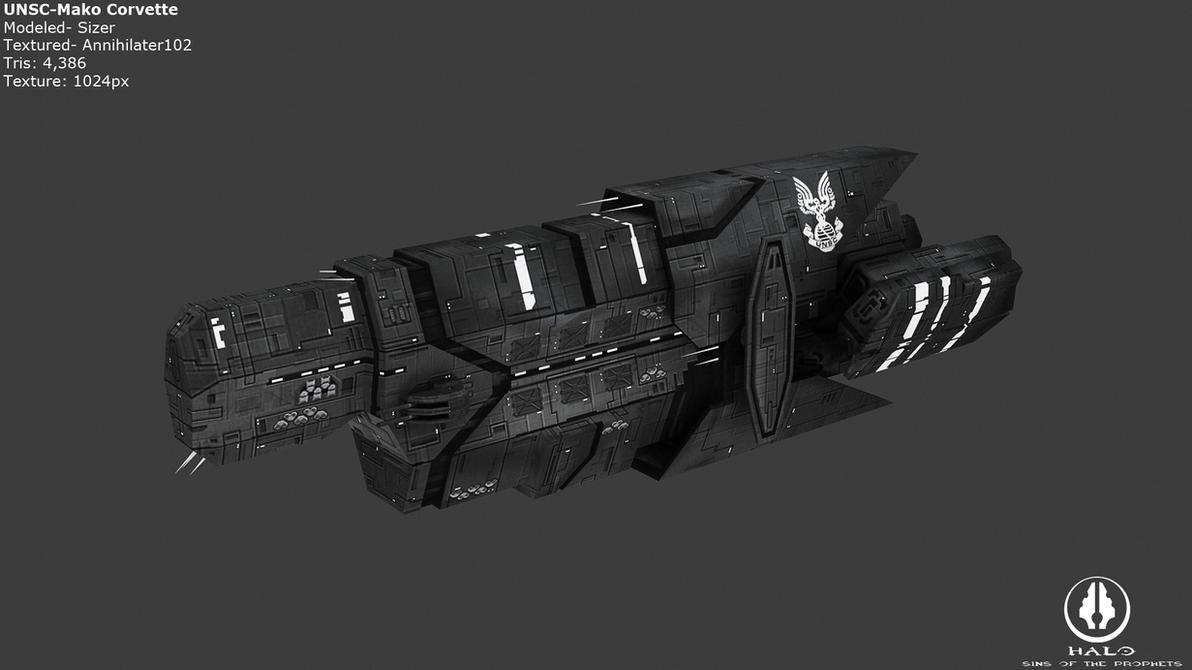 UNSC Mako Corvette by Annihilater102