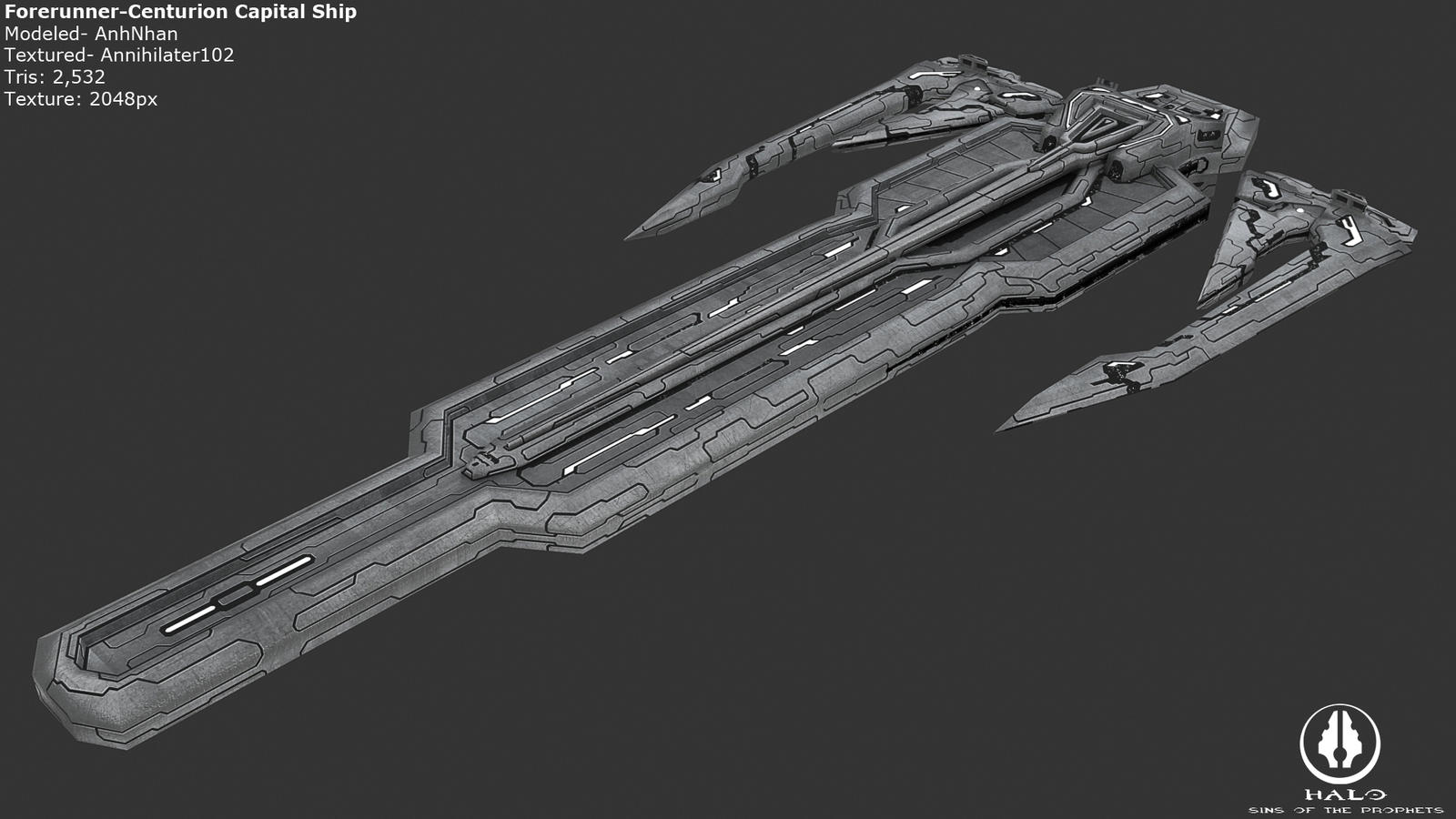 Forerunner Centurion Capital Ship by Annihilater102