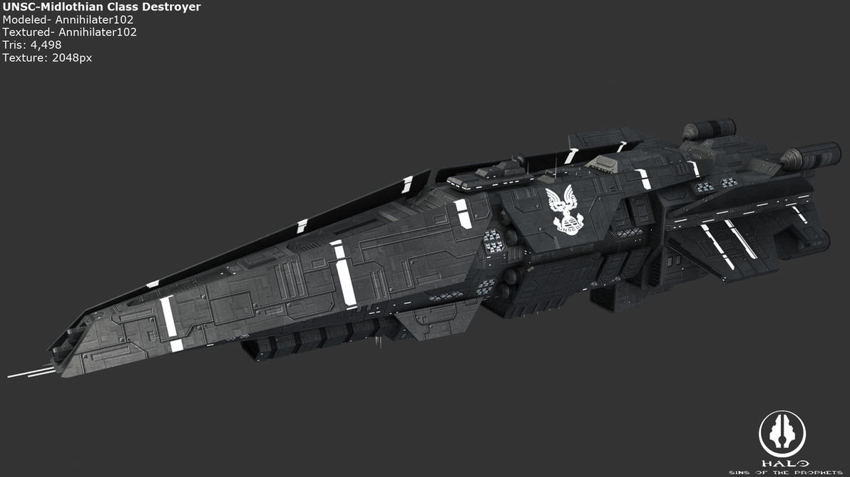 UNSC Midlothian Destroyer by Annihilater102