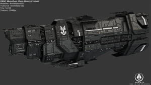 UNSC Marathon Class Heavy Cruiser by Annihilater102