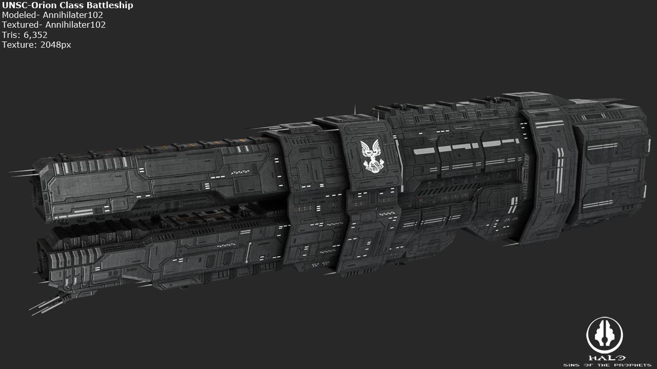 UNSC Orion Class Battleship by Annihilater102