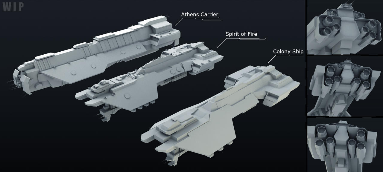 UNSC Phoenix Class Ships WIP by Annihilater102