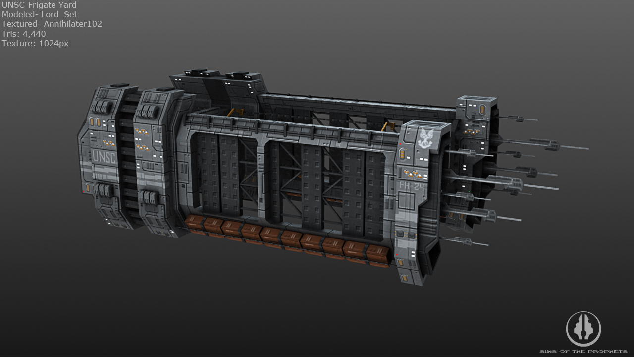 UNSC Frigate yard by Annihilater102