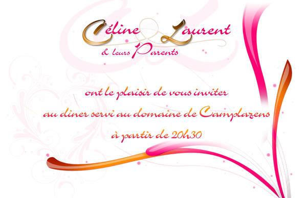 Carte d'invitation mariage by Diabloracing