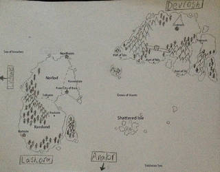 Map of the Twins by Sacroknox