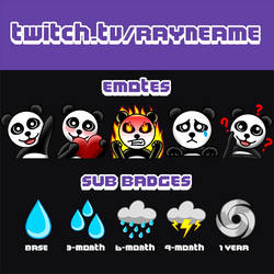 Sample Twitch Commission Summary for RayneAme