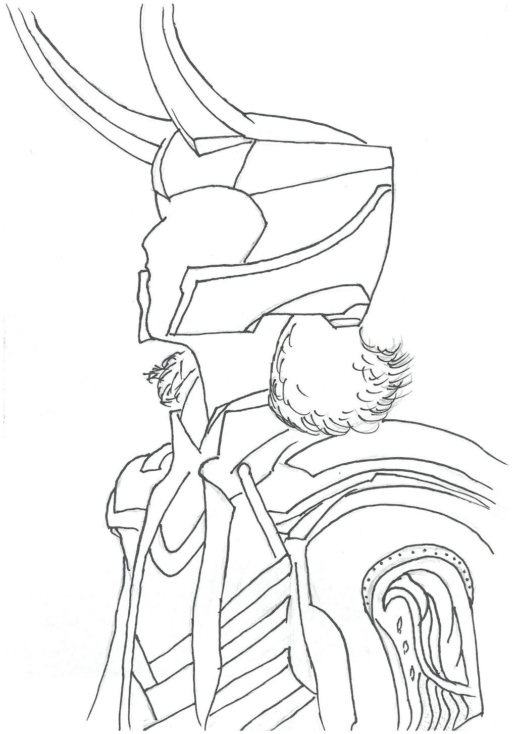 avengers coloring pages loki - photo#13