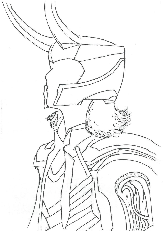 loki coloring pages - loki outlines by szolnok09 on deviantart