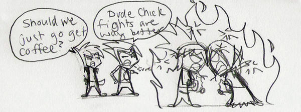 Cat fights are more fun by World-of-Atmos