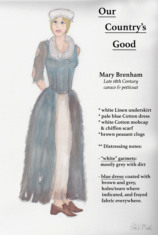 Our Good Life Top Ten Rainbow Cupcakes: Our Country's Good -- Mary Brenham (watercolor) By