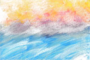 Sunset on the Ocean by LaRenaissanceGirl