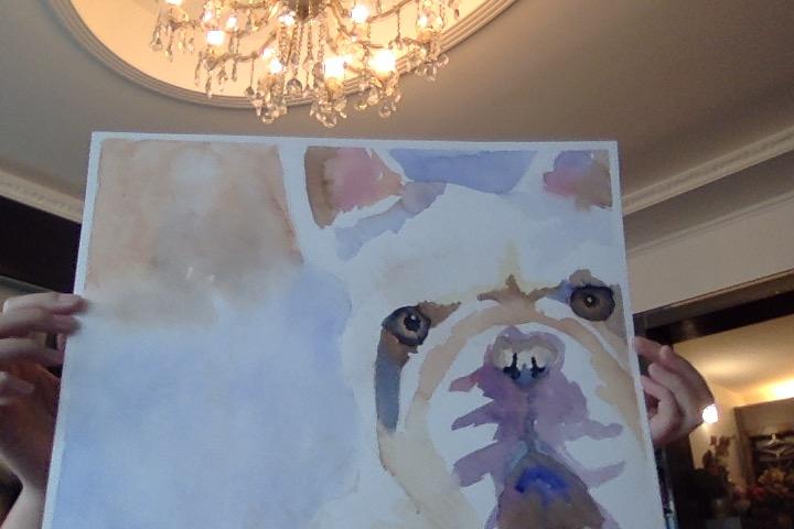 Watercolour Bulldog by ILoveNature12345