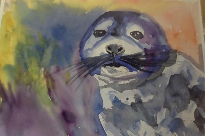 Watercolour Seal by ILoveNature12345