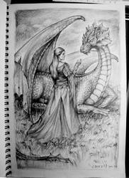 Princess and Dragon by wsxroro1231