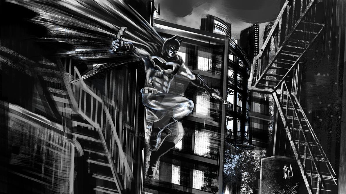 dark knight sketch by aanturnip