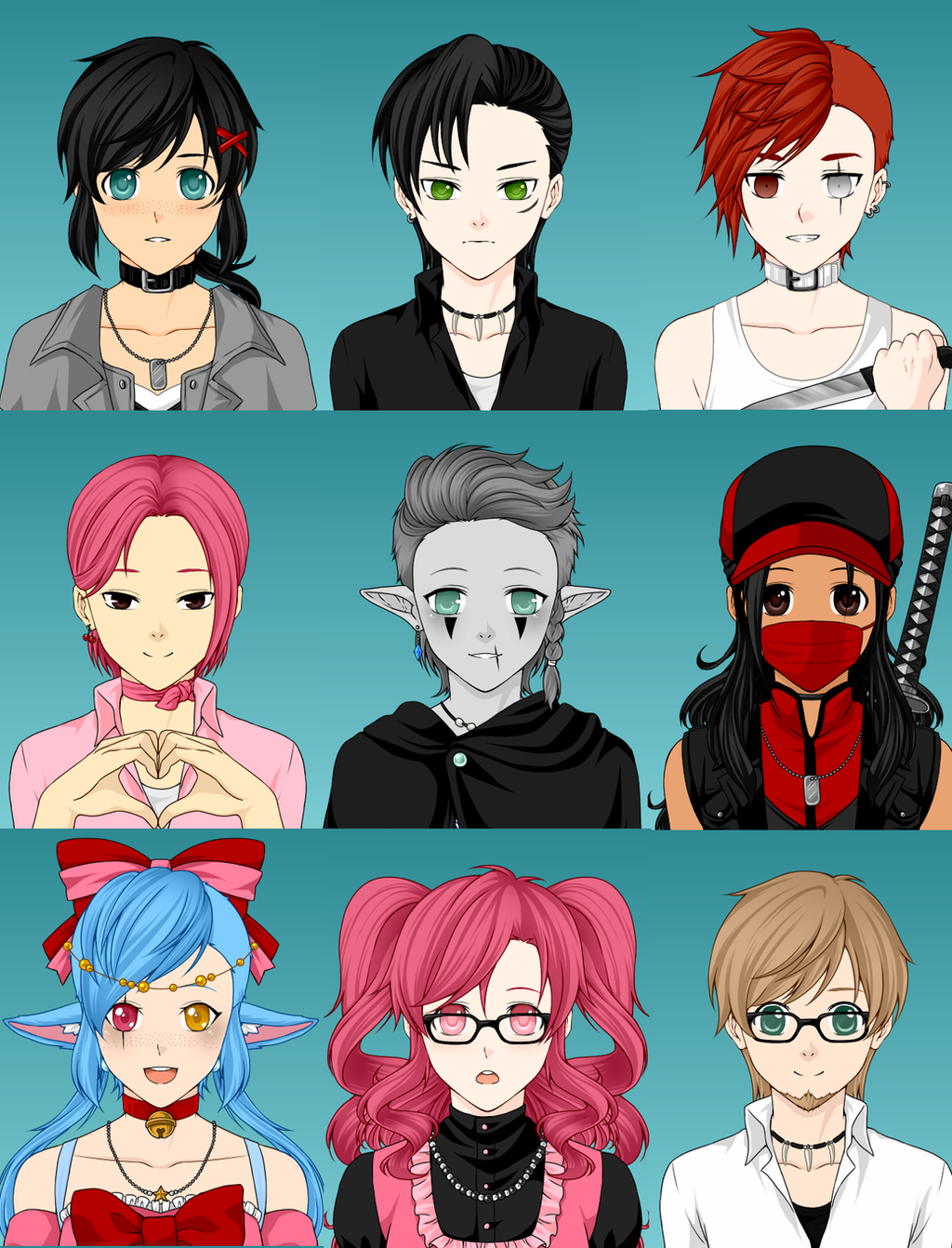 Anime Characters Creator : Open mega anime avatar creator dta adoptables by