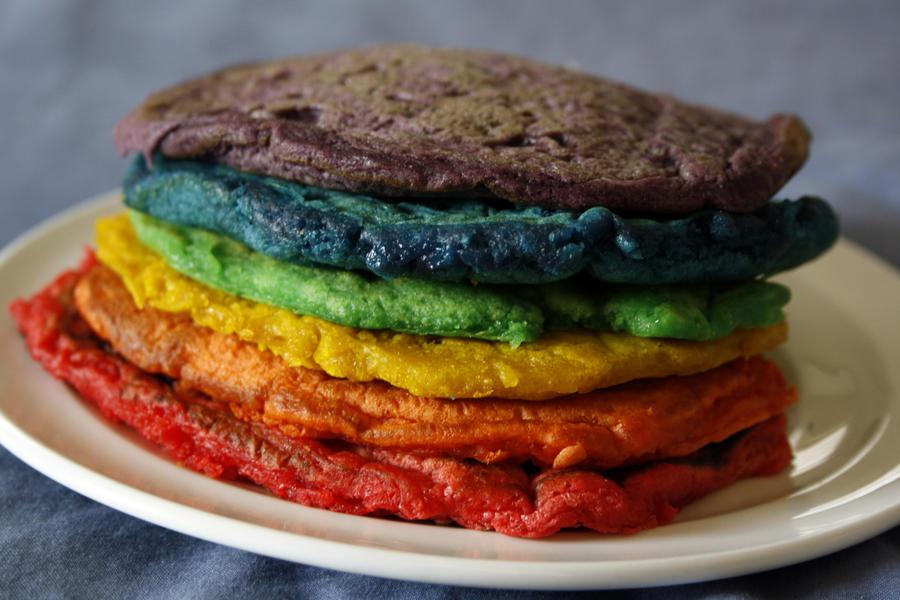 Rainbow Pancakes by behindthesofa