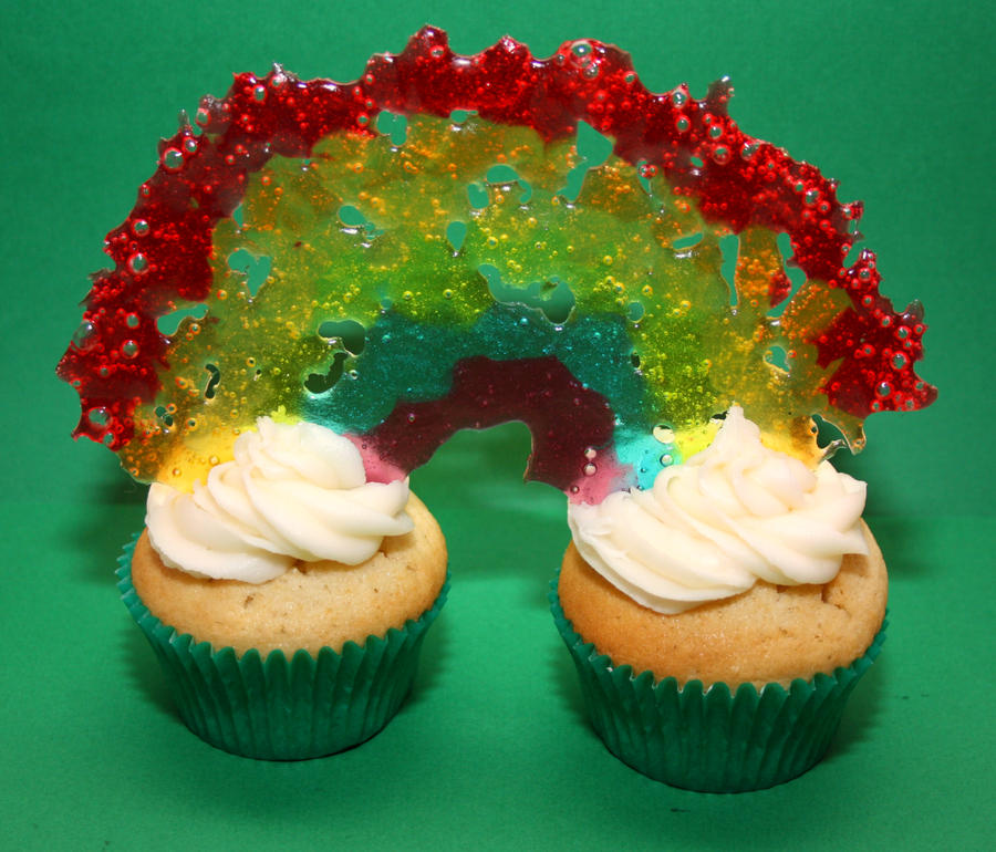 Rainbow Cupcakes by behindthesofa