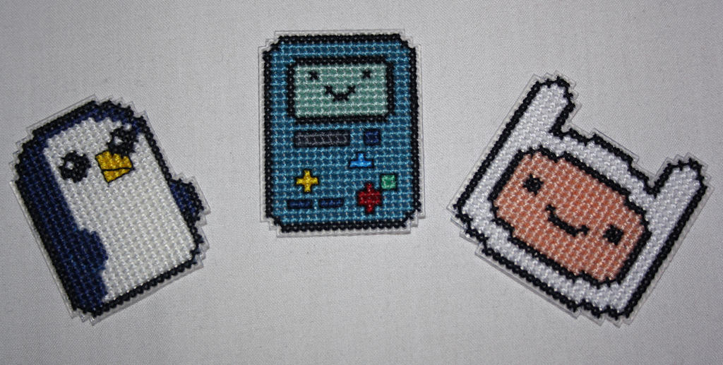 Gunter, BMO and Finn by behindthesofa