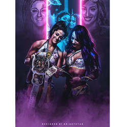 Banks x Bayley - Women's tag champs by Brightstar2003
