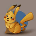 Pikachu by IllegalHamsterThe