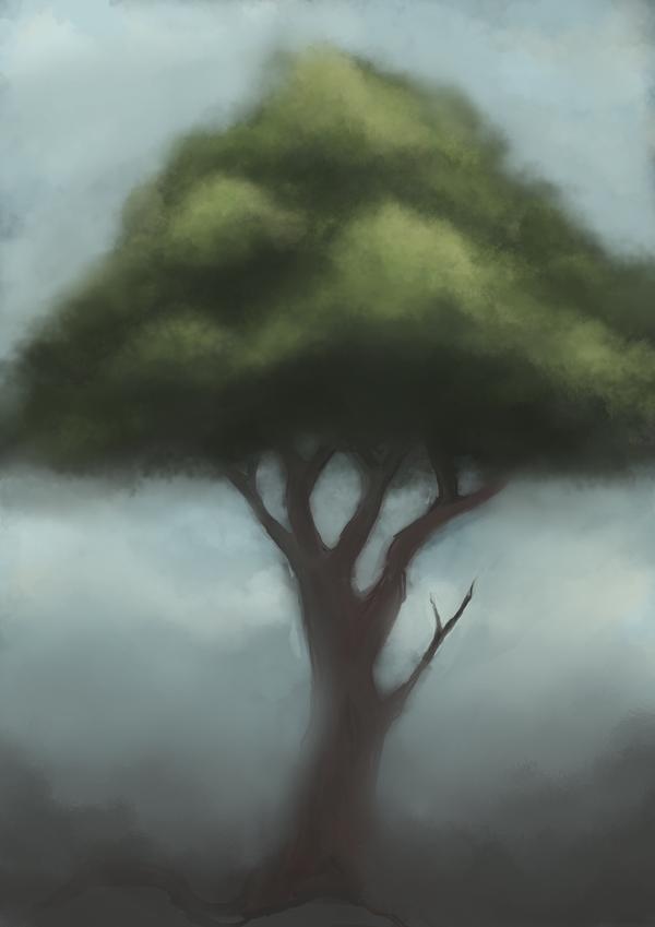Misty Tree w.i.p by houkin
