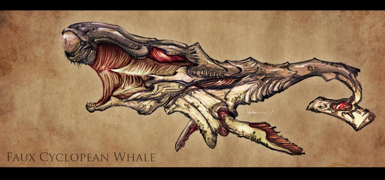Faux Cyclopean Whale by UzukiNoKaze