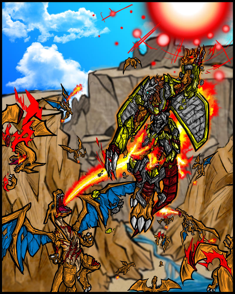 Wargreymon vs Charizard: Blaze by Kiarou on DeviantArt