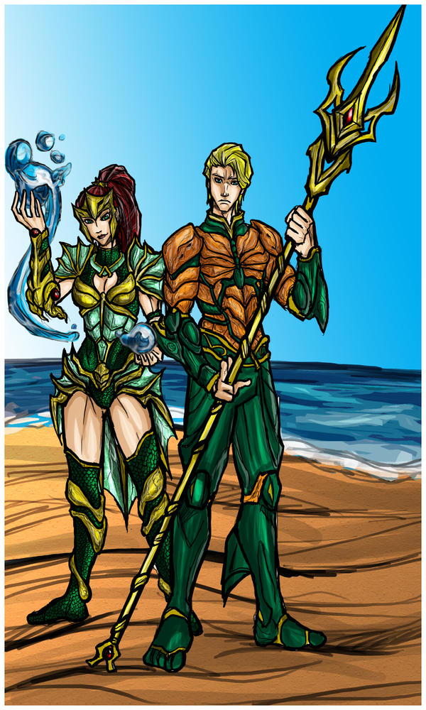 Aquaman and Mera: King and Queen of Atlantis by Kiarou