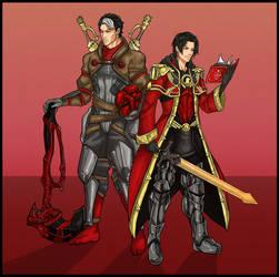Fire Emblem Awakening: Red Robin and Red Hood by Kiarou